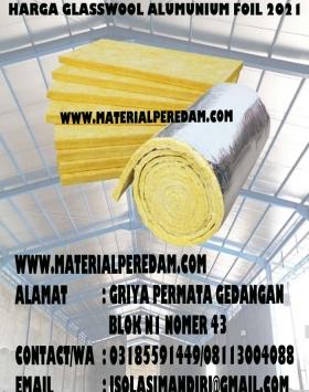 Glasswool alumunium foil 50mm