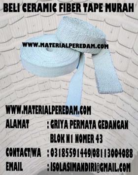 ceramic fiberglass tape 10cm isolasi